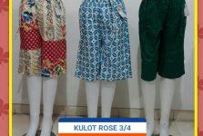 Supplier Celana Kulot Rose 3 4 Wanita Dewasa Murah Surabaya
