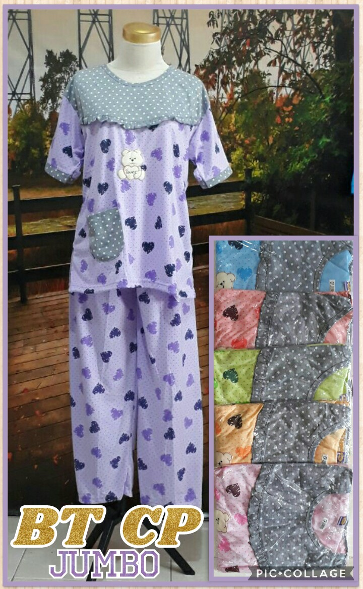 Obral Baju Anak Murah Surabaya Produsen Baju Tidur Katun CP Jumbo Dewasa Murah 33Ribu