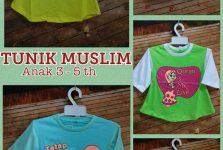 Pusat Kulakan Kaos Tunik Muslim 3-5 th Murah Surabaya 20ribuan