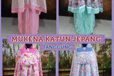 Distributor Mukena Katun Jepang Tanggung Murah Surabaya 78ribuan