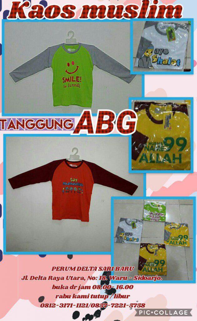 Grosir Baju Murah Surabaya,SMS/WA ORDER ke 0857-7221-5758 Kulakan Kaos Muslim Anak Tanggung Karakter Murah 25Ribu