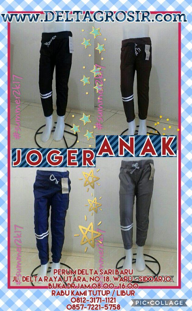 Grosir Baju Murah Surabaya,SMS/WA ORDER ke 0857-7221-5758 Sentra Kulakan Celana Jogger Stretch Anak Termurah 16Ribu