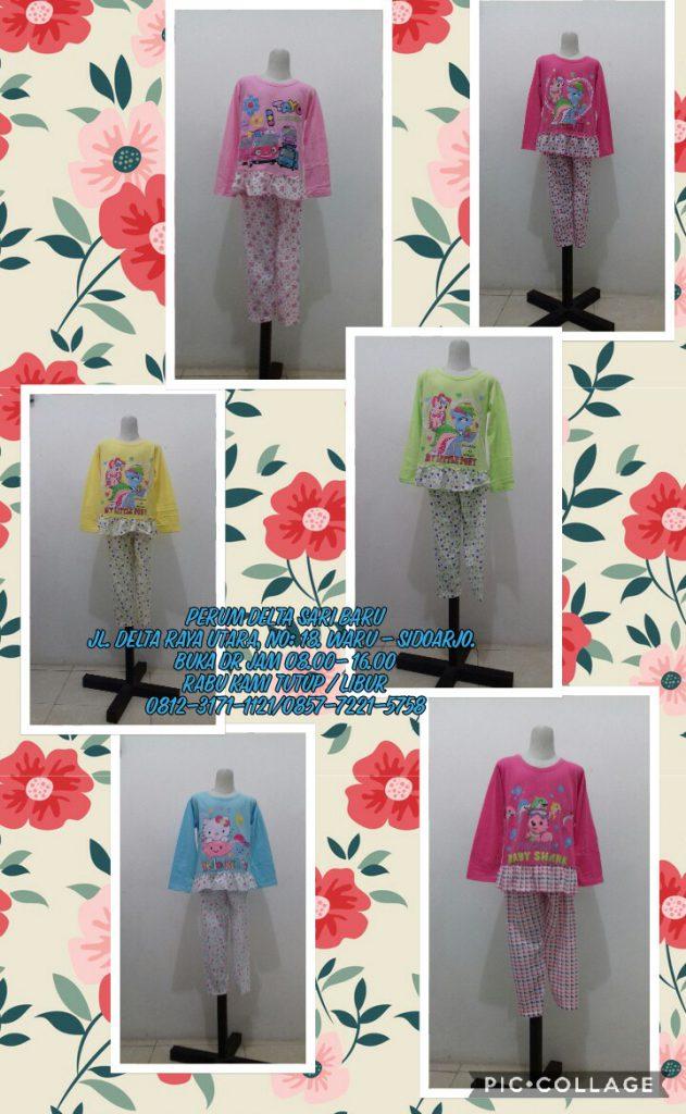 Grosir Baju Murah Surabaya,SMS/WA ORDER ke 0857-7221-5758 Sentra Kulakan Setelan Vinluis Anak Perempuan Murah Rp.20.500