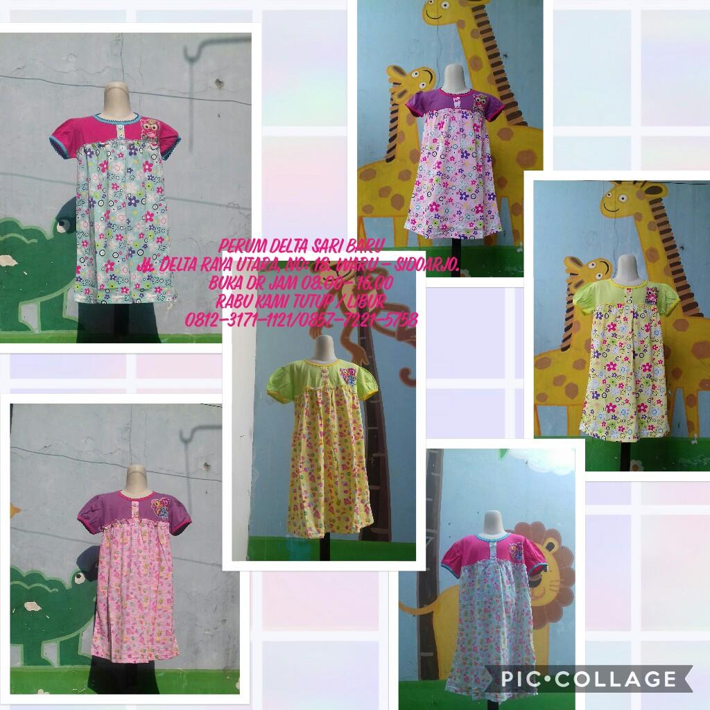 Obral Baju Anak Murah Surabaya Pusat Kulakan Dress V3 Karakter Anak Perempuan Murah 25Ribu