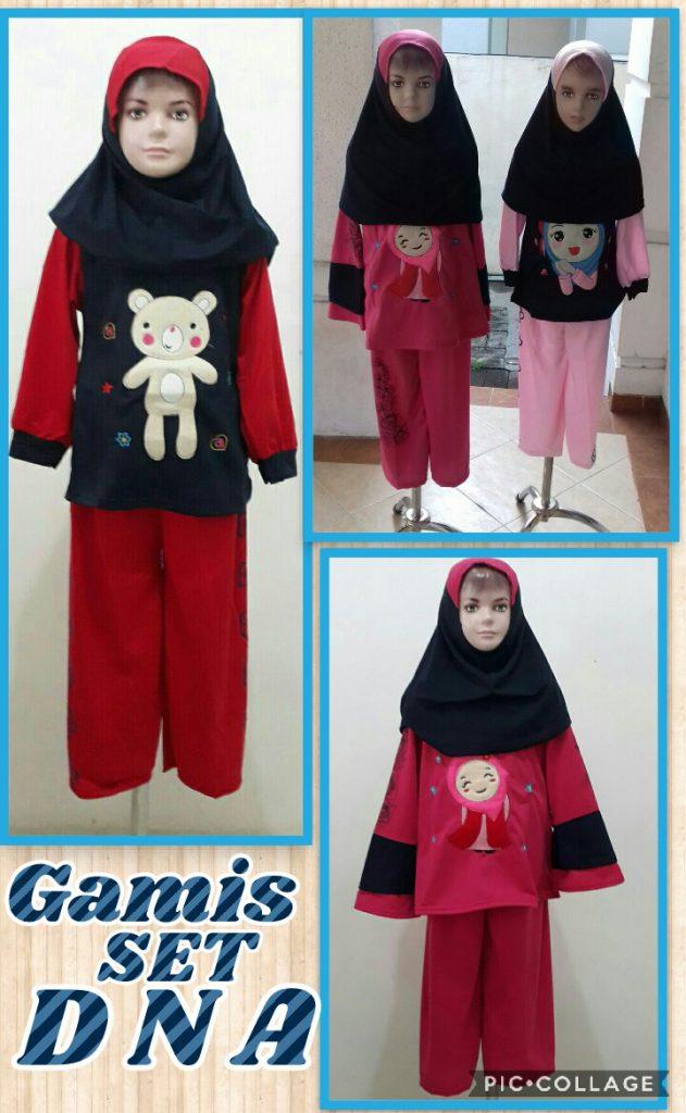 Grosir Baju Murah Surabaya,SMS/WA ORDER ke 0857-7221-5758 Distributor Gamis Setelan DNA Anak Perempuan Murah Surabaya 38Ribu