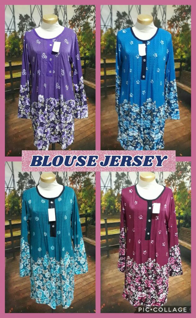 Grosir Baju Murah Surabaya,SMS/WA ORDER ke 0857-7221-5758 Kulakan Blouse Jersey Wanita Dewasa Murah 32Ribu