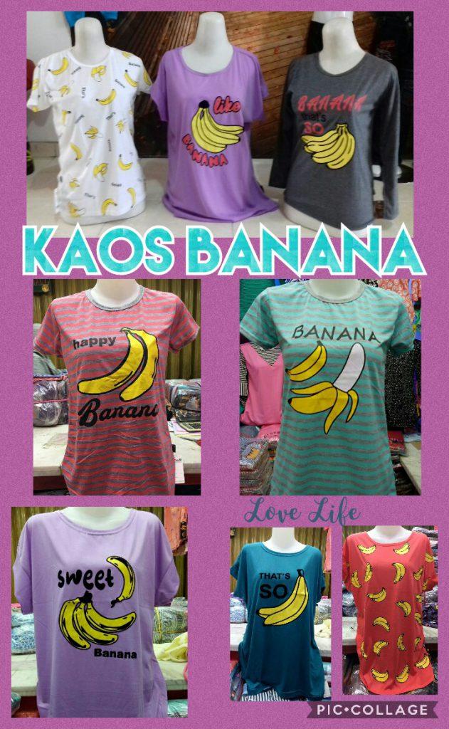Grosir Baju Murah Surabaya,SMS/WA ORDER ke 0857-7221-5758 Produsen Kaos Banana Cewe Dewasa Murah Surabaya 14Ribu