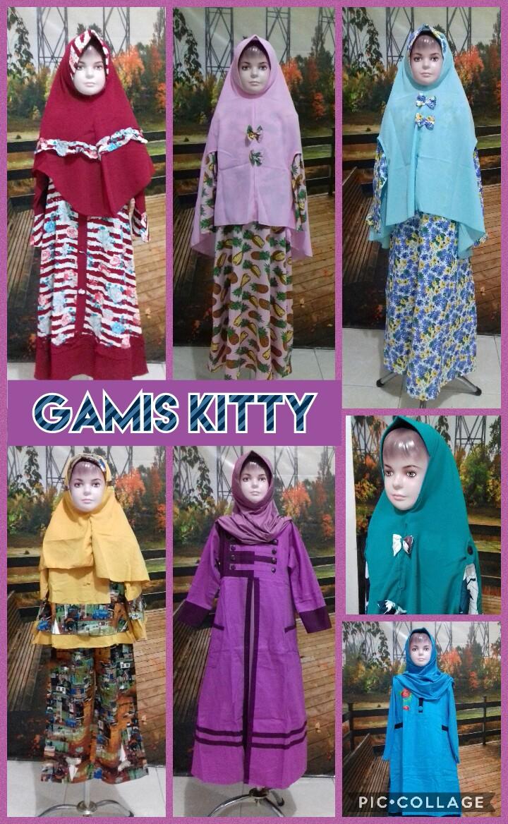 Obral Baju Anak Murah Surabaya Distributor Gamis Kitty Anak Perempuan Syar'i Murah Surabaya 76Ribu