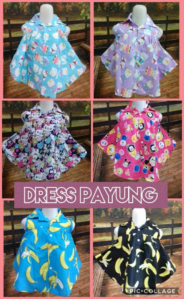 Grosir Baju Murah Surabaya,SMS/WA ORDER ke 0857-7221-5758 Distributor Dress Payung Anak Perempuan Murah 22ribuan