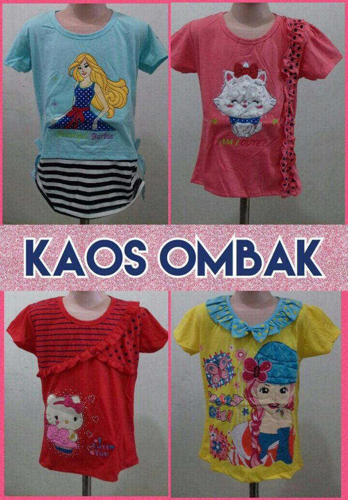 Grosir Baju Murah Surabaya,SMS/WA ORDER ke 0857-7221-5758 Produsen Kaos Ombak Anak Perempuan Murah Surabaya Rp.15.500