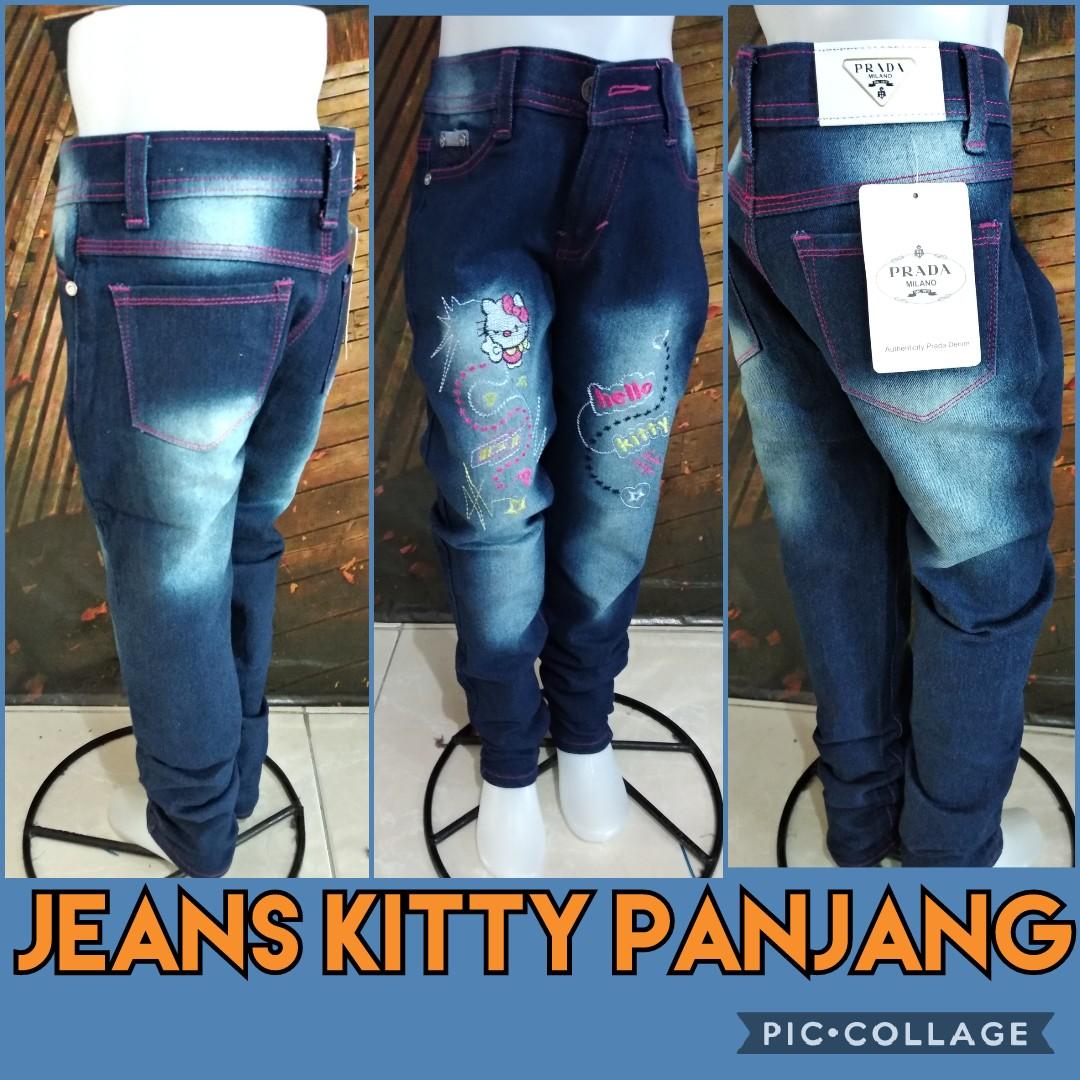 Obral Baju Anak Murah Surabaya Distributor Celana Jeans Kitty Panjang Murah 44ribuan