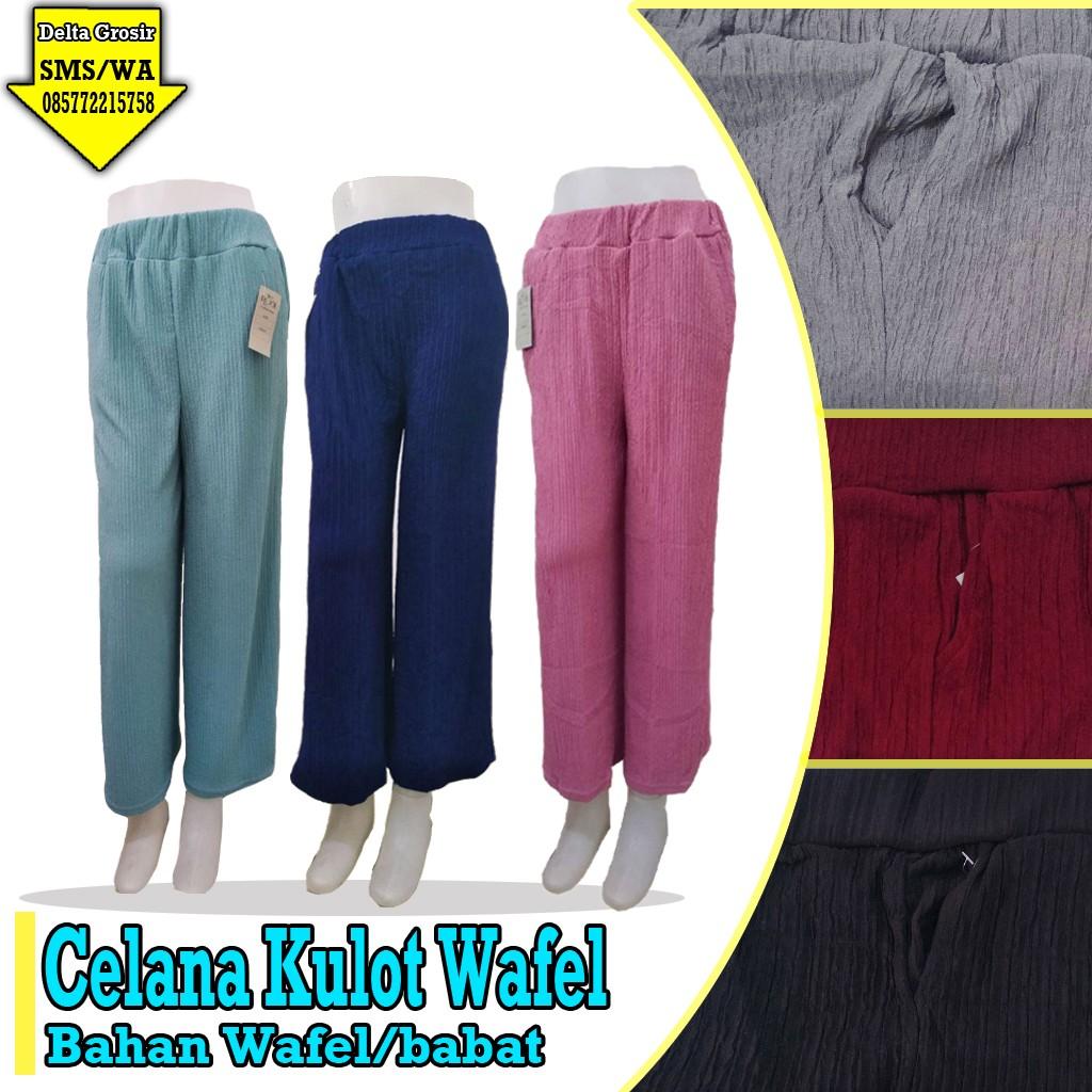 Grosir Baju Murah Surabaya,SMS/WA ORDER ke 0857-7221-5758 Produsen Celana Kulot Wafle Murah 31ribuan