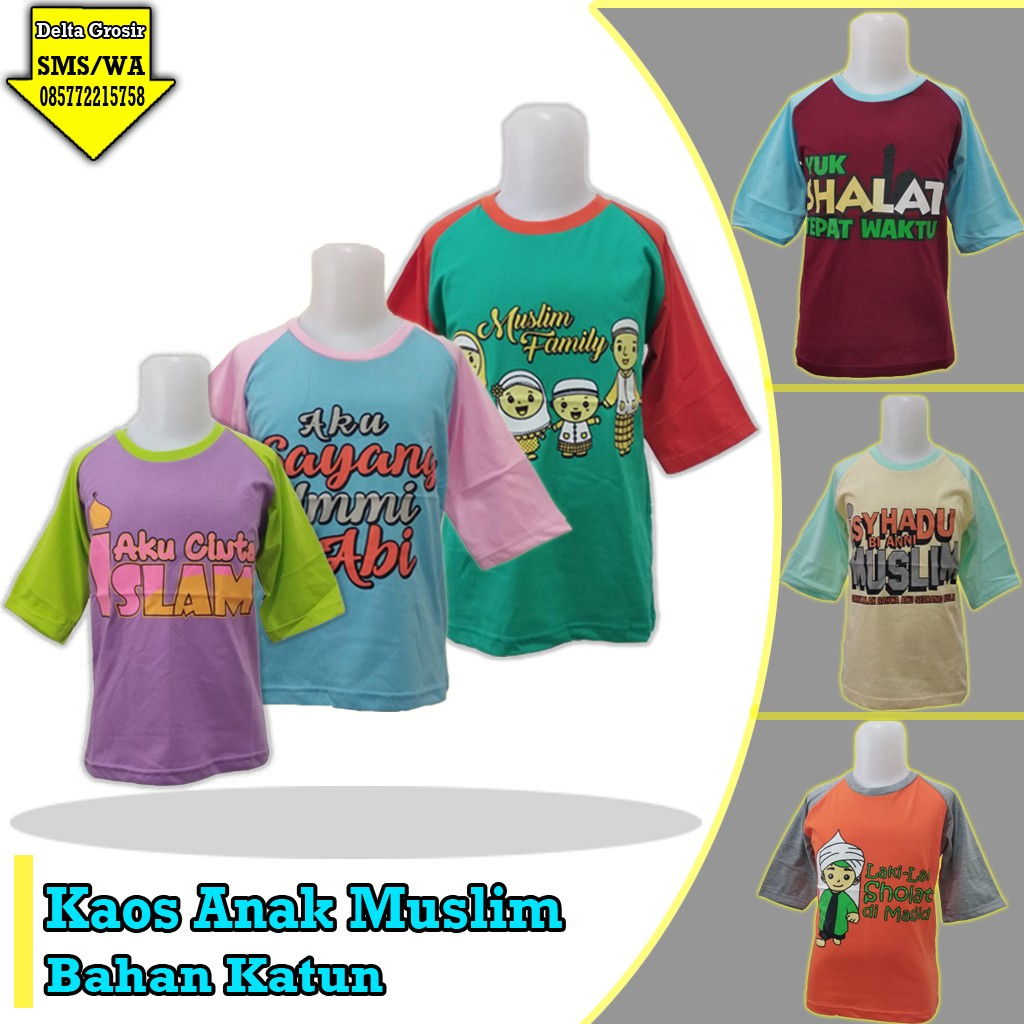 Grosir Baju Murah Surabaya,SMS/WA ORDER ke 0857-7221-5758 Pusat Kulakan Kaos Muslim Anak Murah 17ribuan