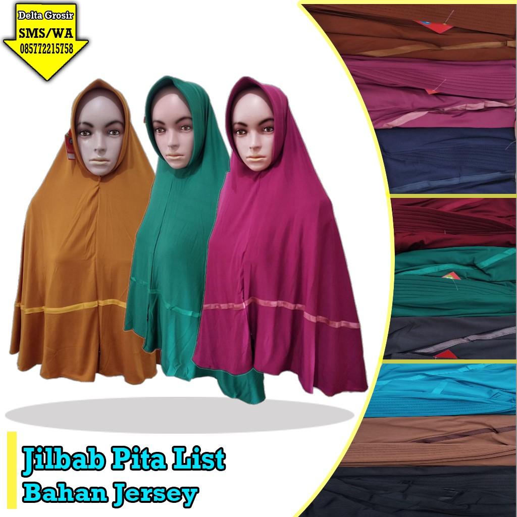 Grosir Baju Murah Surabaya,SMS/WA ORDER ke 0857-7221-5758 Supplier Jilbab Pita List Murah 28ribuan