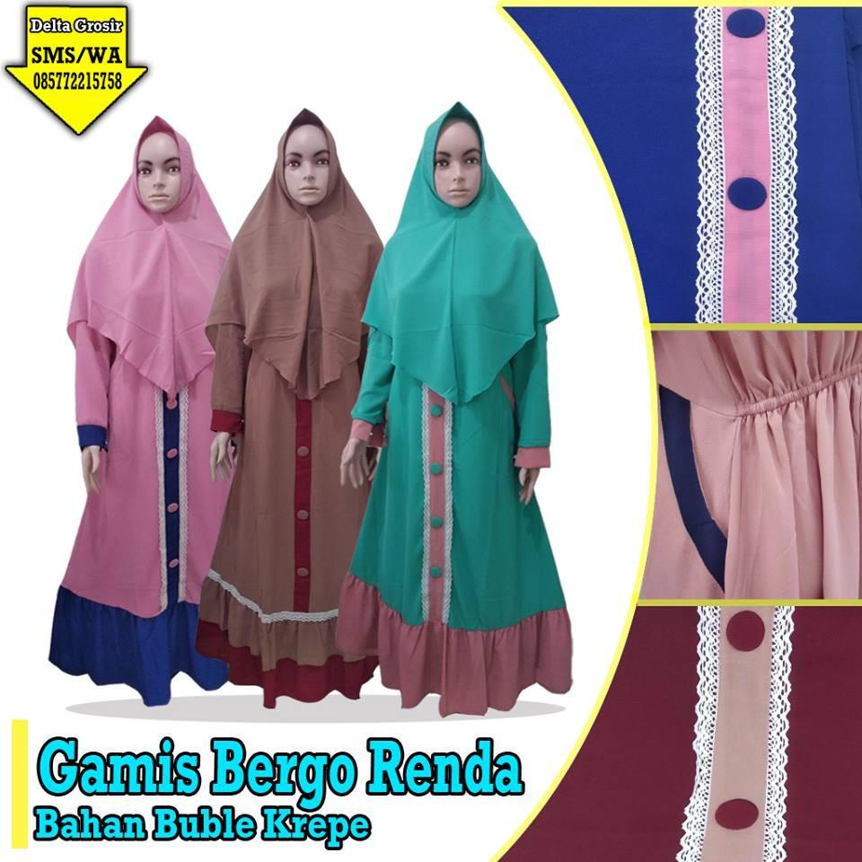 Grosir Baju Murah Surabaya,SMS/WA ORDER ke 0857-7221-5758 Pusat Grosir Grosir Gamis Renda Dewasa Murah 125ribuan