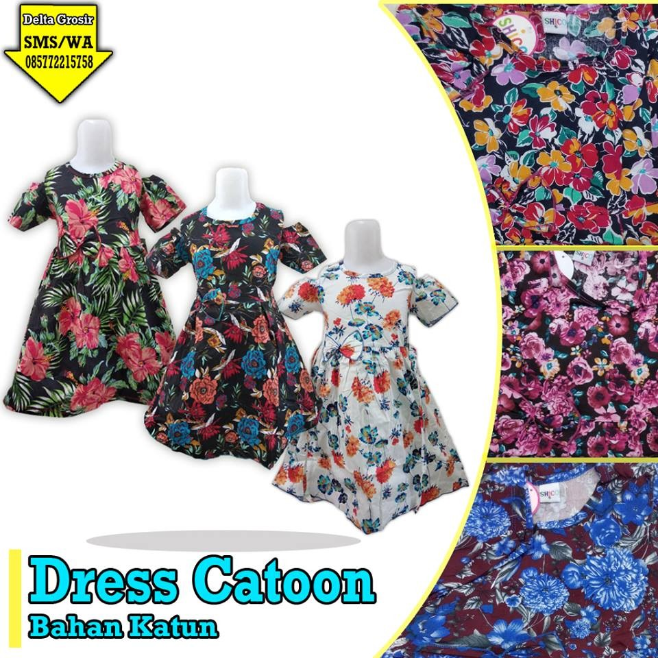 Obral Baju Anak Murah Surabaya Supplier Dress Cotton Anak Murah di Surabaya