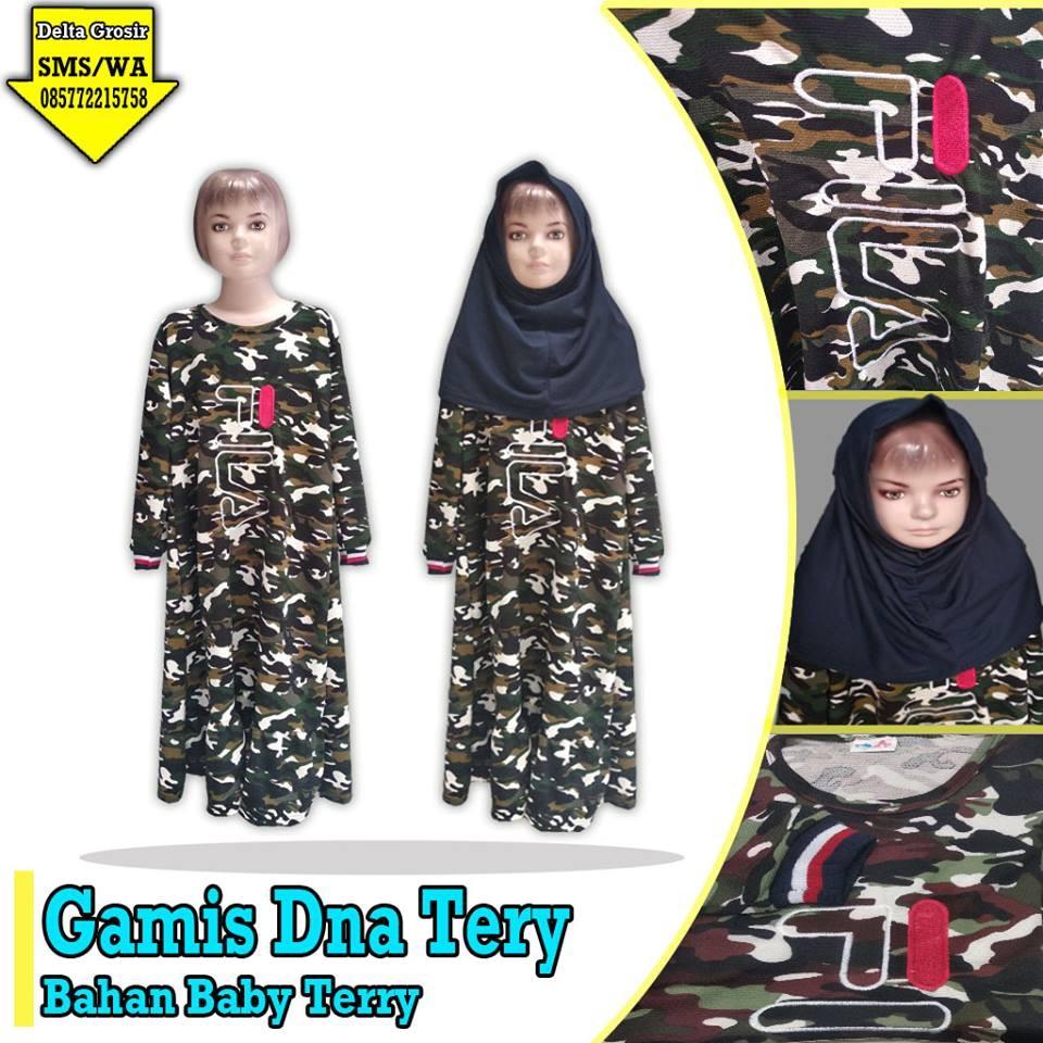Grosir Baju Murah Surabaya,SMS/WA ORDER ke 0857-7221-5758 Konveksi Gamis DNA Terry Anak Murah di Surabaya