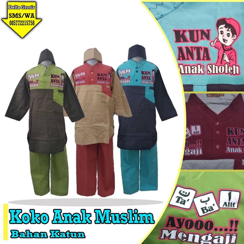 Grosir Baju Murah Surabaya,SMS/WA ORDER ke 0857-7221-5758 Grosir Koko Anak Muslim Murah di Surabaya