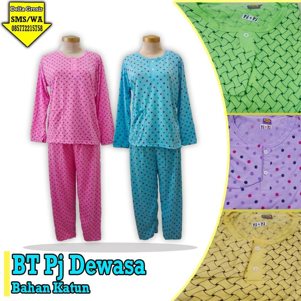 Grosir Baju Murah Surabaya,SMS/WA ORDER ke 0857-7221-5758 Pabrik Baju Tidur Panjang Dewasa Murah di Surabaya
