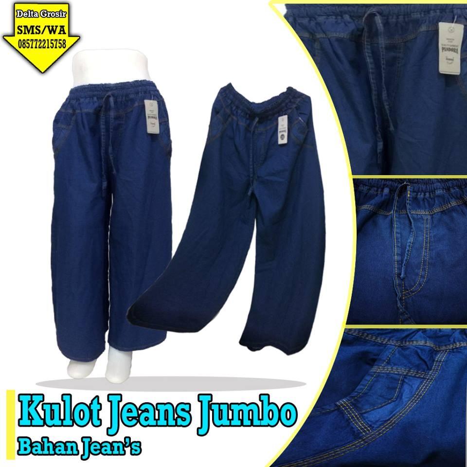 Grosir Baju Murah Surabaya,SMS/WA ORDER ke 0857-7221-5758 Distributor Celana Kulot Jeans Dewasa Murah di Surabaya