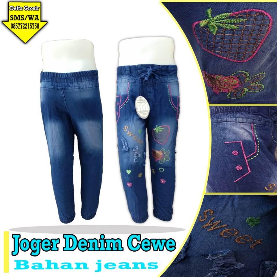Grosir Baju Murah Surabaya,SMS/WA ORDER ke 0857-7221-5758 Grosir Jogger Jeans Anak Cewe Murah di Surabaya